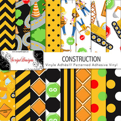 Construction - Patterned Adhesive Vinyl (16 Different designs available)