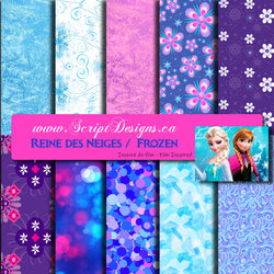 Frozen - Patterned Adhesive Vinyl (10 Different patterns available)
