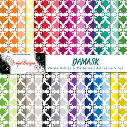 Damask - Patterned Adhesive Vinyl (30 Different designs available)