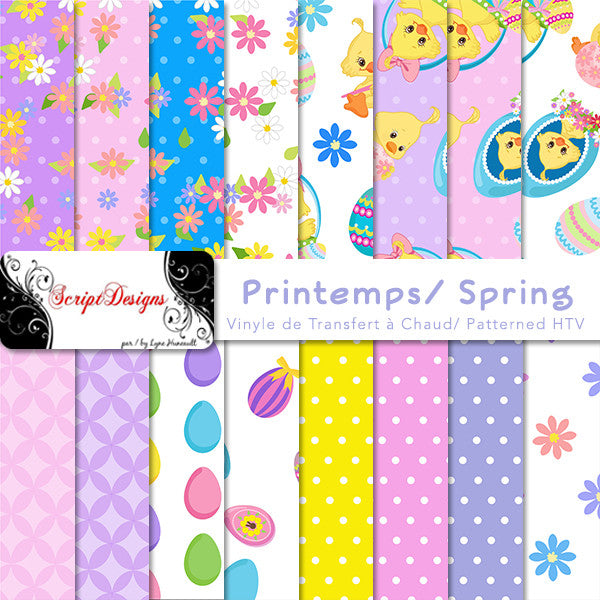 Spring Patterned Htv 16 Different Designs Available