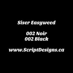 02 Black - Siser EasyWeed HTV 12 Inches Wide