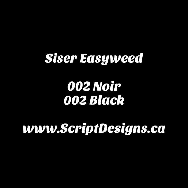 Black - Siser EasyWeed HTV 12 Inches Wide