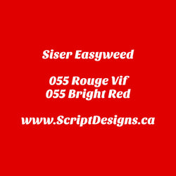 55 Bright Red - Siser EasyWeed HTV