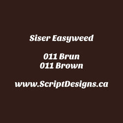 11 Brown - Siser EasyWeed HTV