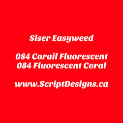 84 Fluorescent Coral - Siser EasyWeed HTV