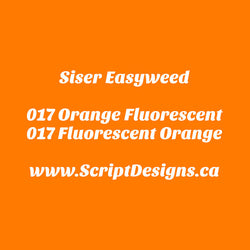 17 Fluorescent Orange - Siser EasyWeed HTV