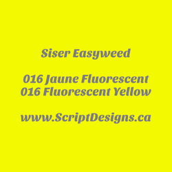 16 Fluorescent Yellow - Siser EasyWeed HTV