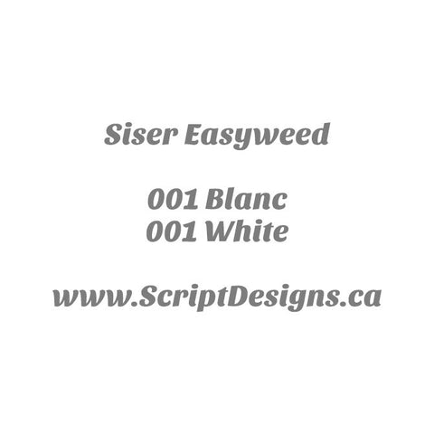 01 White - Siser EasyWeed HTV 12 Inches Wide