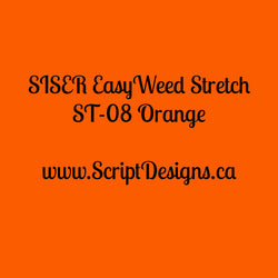 ST08 Orange - Siser EasyWeed Stretch HTV - ScriptDesigns - 1