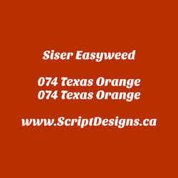 74 Texas Orange - Siser EasyWeed HTV