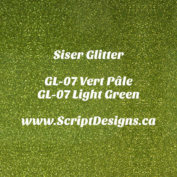 GL-07 Light Green - Siser Glitter HTV