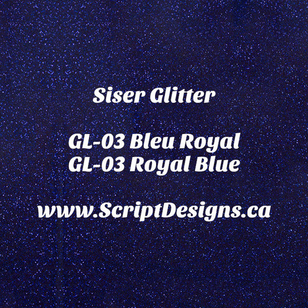 GL-03 Royal Blue - Siser Glitter HTV
