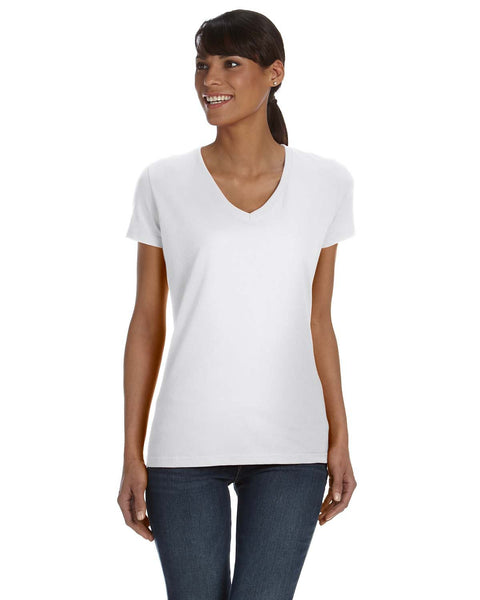 Fruit of the Loom Ladies' 8.3 oz./lin. yd. HD Cotton™ V-Neck T-Shirt