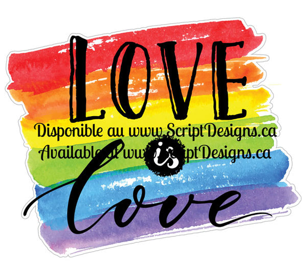 Love is Love Rectangle - Pride Collection (Adhesive Decal)