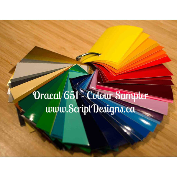 Colour Sampler Ring - Oracal 651 - ScriptDesigns