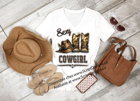 Sexy Cowgirl T-Shirt - Ladies