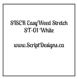 ST01 White - Siser EasyWeed Stretch HTV