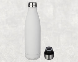 17oz Stainless Steel Coke Shaped Bottle White and Silver Sublimation
