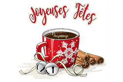Christmas Cup Joyeuse Fetes Adhesive Decal