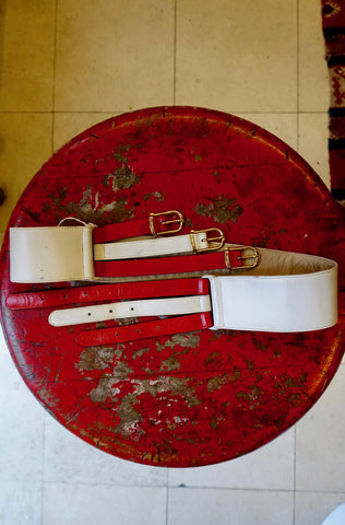 1980's Givenchy Garnet Suede Belt - SOLD
