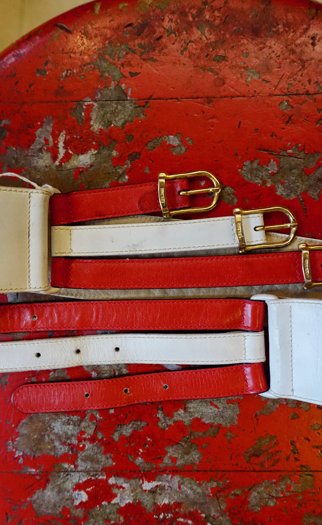 1970's Celine Red and White Belt - SOLD