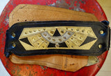 1980's Black and Gold Studded Belt - SOLD