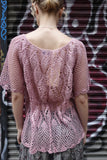 Early 1980's lavender crochet top - SOLD