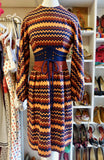 1970's Geometric Print Belted Dress SOLD