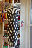 1960's Graphic Black and White Dress - SOLD