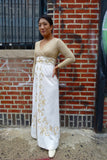 1960's Gold Lurex Evening Dress