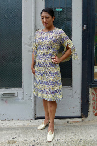 1970's Paisley Shirred Waist Dress - SOLD