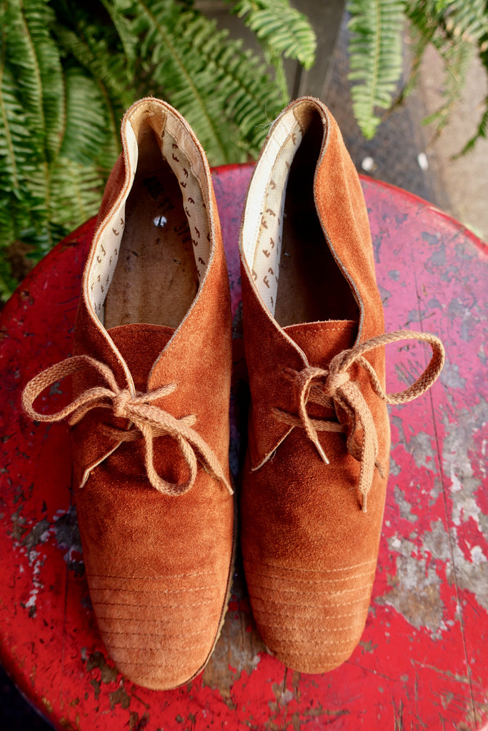 1970's Soft Suede Oxfords