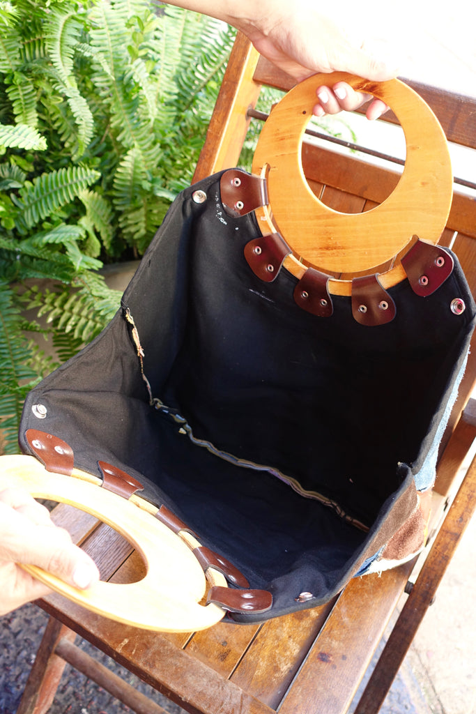 1970's Suede Patchwork Handbag - SOLD