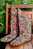 Afghani Multi-Colored Embroidered Boots - SOLD