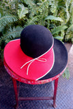 1960's Philip Somerville for Harrods Felt Wide-Brim Hat