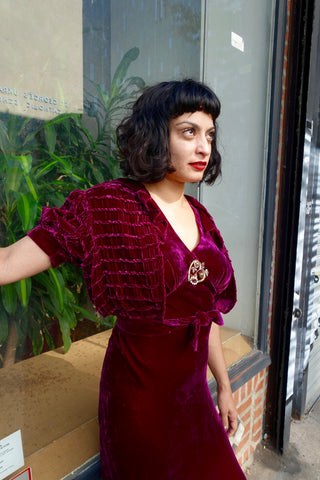 1920's Art Deco Embroidered Silk Blouse - SOLD