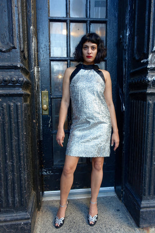 1960s Silver Tassel Cocktail Dress - SOLD