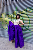 1980's Oscar de la Renta Purple Culotte Pants - SOLD