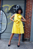 1960's Yellow Ruffle Wrap Dress - SOLD
