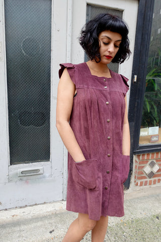 1940's Mauve Floral Rayon Dress - SOLD
