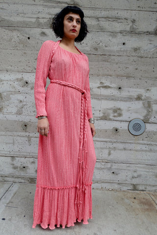 1930's Pink Silk Nightgown - SOLD