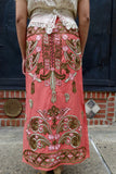 Asian Pale Pink Silk Embroidered Skirt