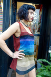 1970's Rainbow Ombre Striped Suede Tunic - SOLD