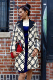 1960's Lilli Ann Charcoal and Ivory Plaid Coat -SOLD