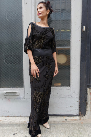 1950's-60's Black Lace Dress