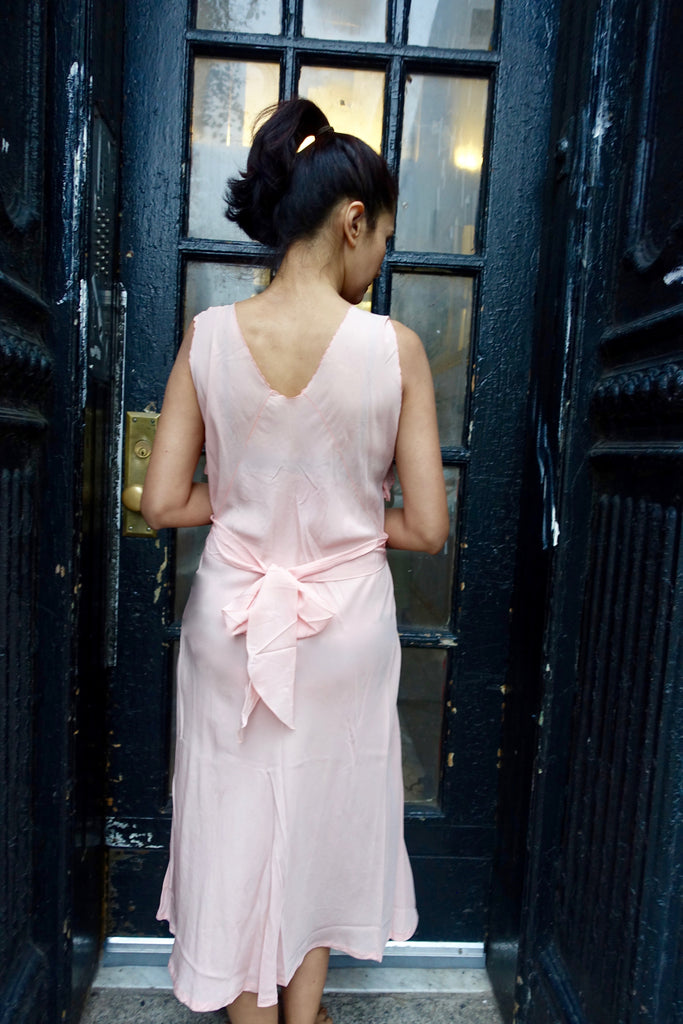 1930's Pink Silk Nightgown