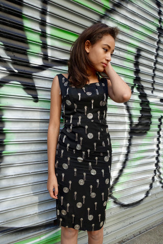 1980's-1990's Krizia Geometric Modern Cutout Dress - SOLD