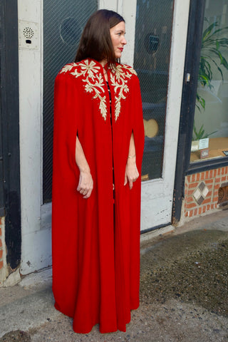 1980's Romeo Gigli Velvet Beaded Dress