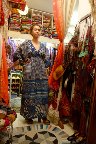Central Asian Embroidered Indigo Dress - SOLD