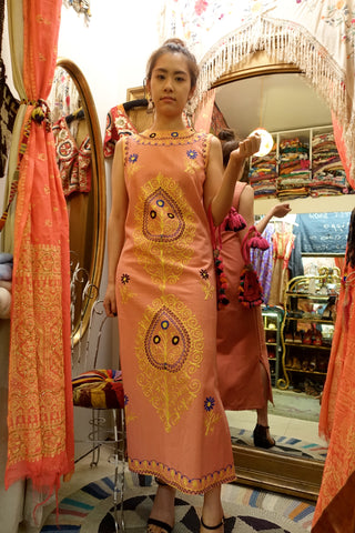 Eastern European Embroidered Dress - SOLD